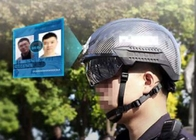 Smart Helmet Long Distance Temperature Measurement AI professional face recognition for public usage
