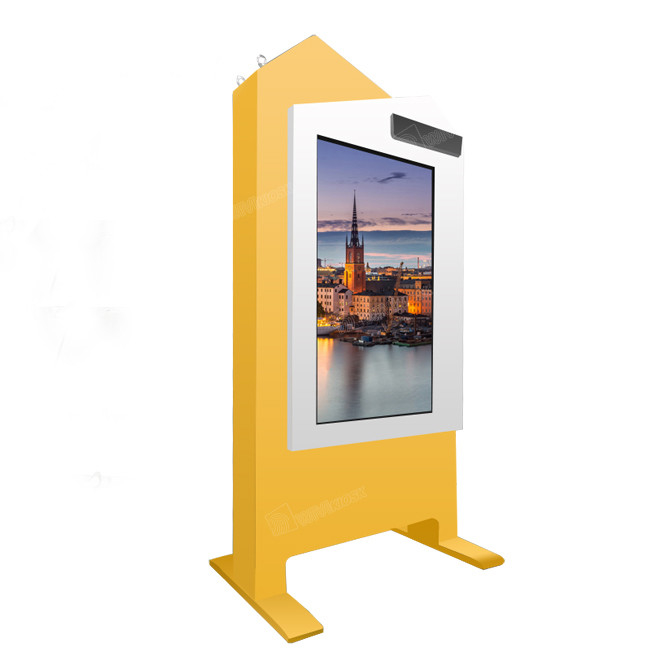 65 Inch Interactive Digital Display Screens , Floor Standing Outdoor Monitor Display