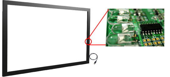 49'' High Quality Infrared Touch Screen, IR Multi Touch Frame, IR Touch Screen Overlay