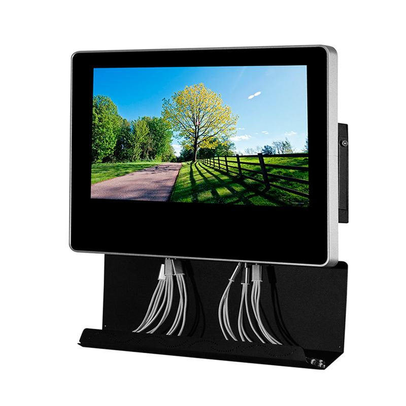 Metal Wall Mounted Electric Mobile Phone Charging Station Digital Signage  With 21.5'' AD Screen
