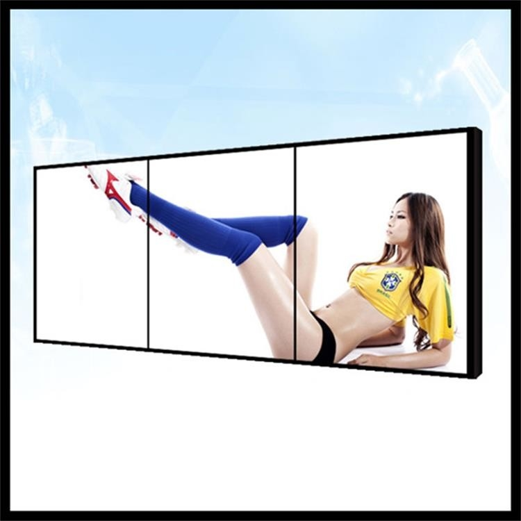 Wall Mounted 1 * 3 LCD Video Wall Screen Uitra Thin For Runway Show Fashion Shops