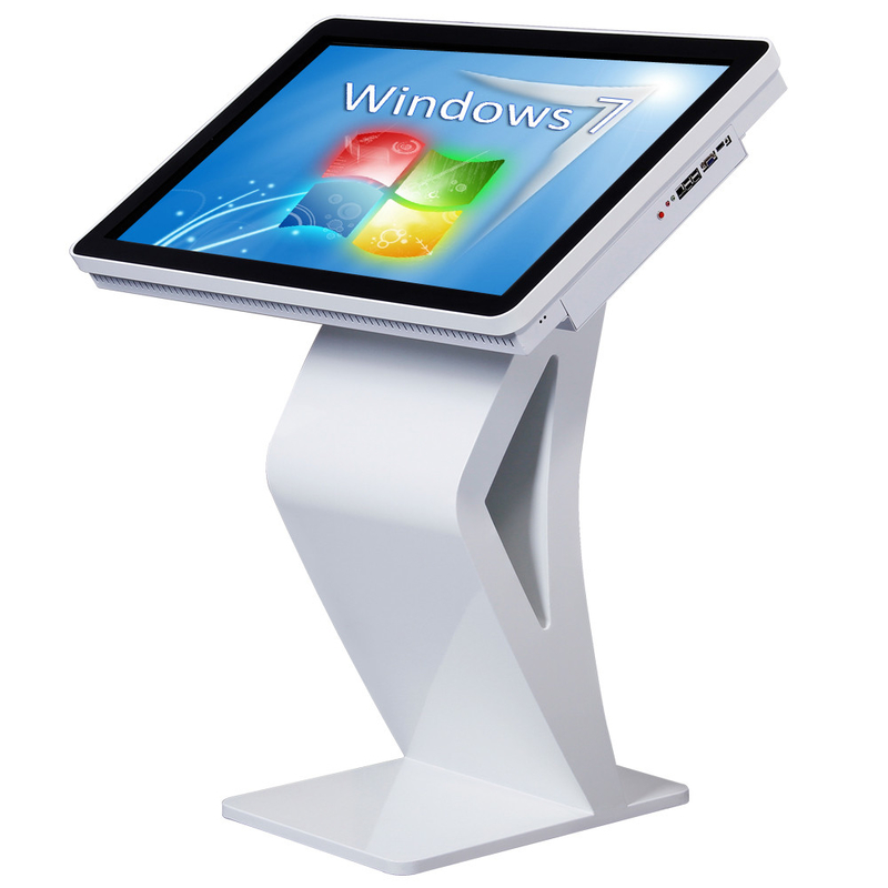 High Definition All In One Desktop Touch Screen , Floor Standing Touch Screen Kiosk