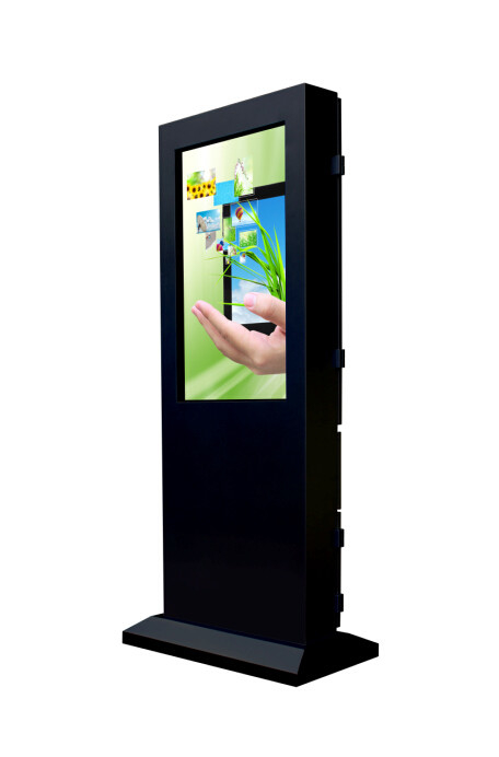 Compatible Outdoor Touch Screen Kiosk Totem Anti - Glare Glass Automatic Brightness Control