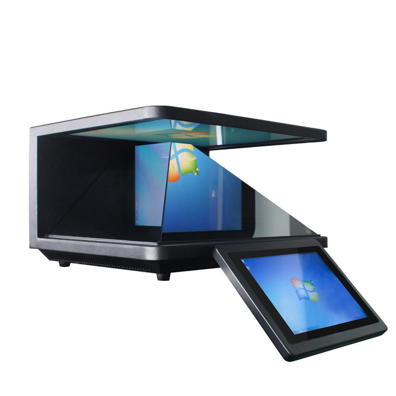 Android 3D Holographic Projection Screen , 19 Inch Hologram Pyramid Display