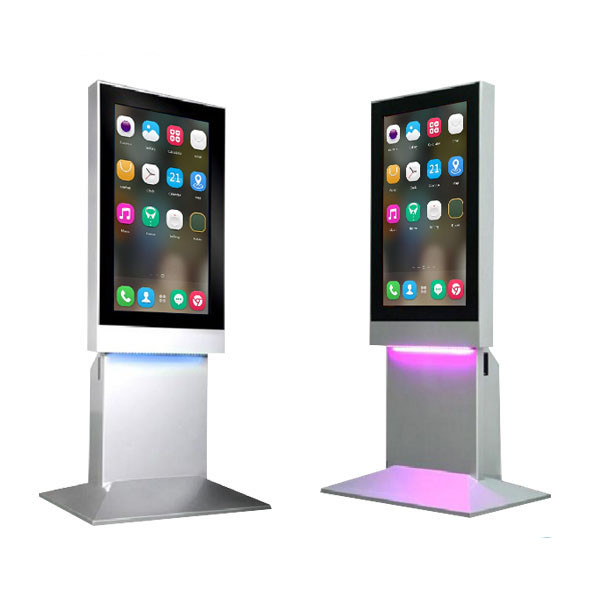 Standalone 43'' Super HD Human Sensor Advertising Touch Digital Kiosk Mall Advertising Kiosk