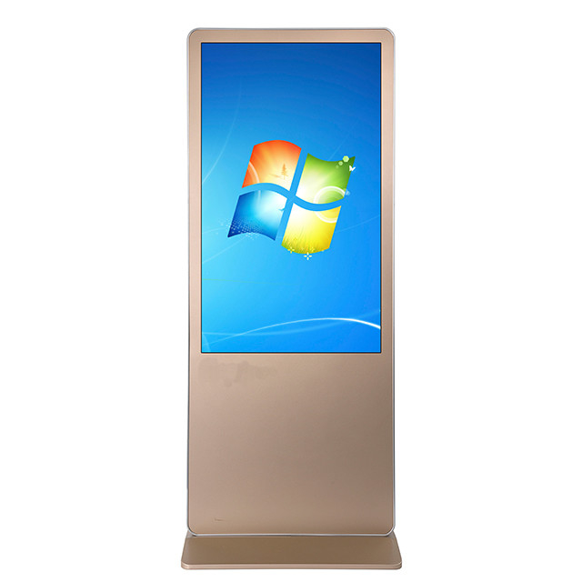 Floor Stand Full HD Digital Signage Kiosk , Media Player Touch Screen Display 49 Inch