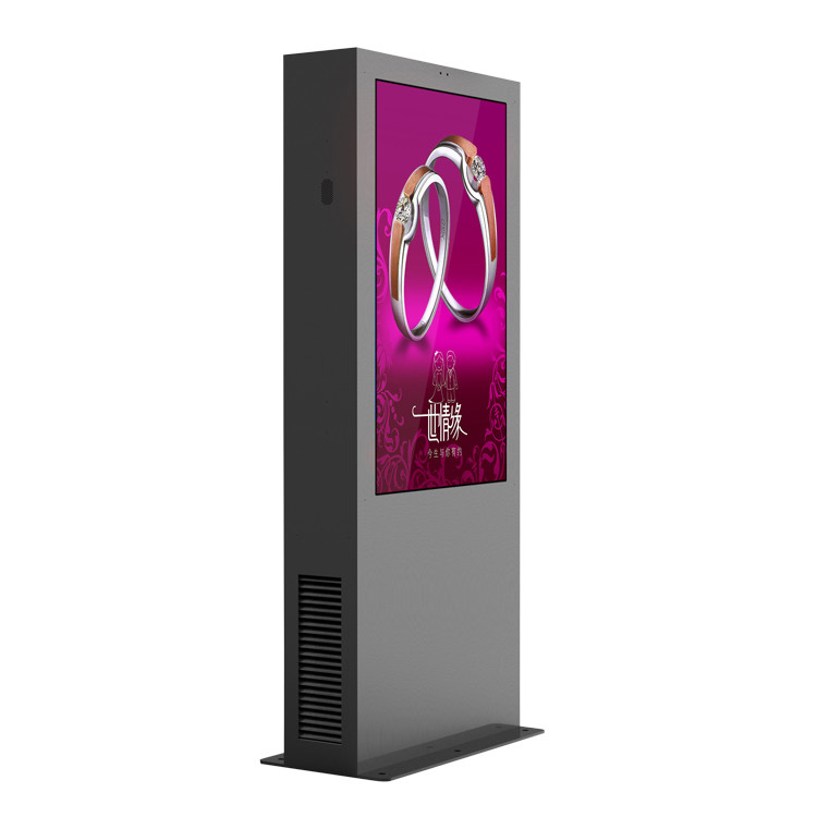 65 Inch Digital Kiosks Touch Screen , Floor Standing LCD Advertising Display With Air Conditioner