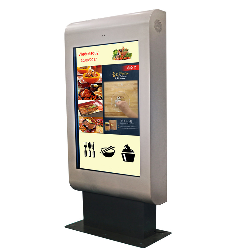 Advertising Outdoor Touch Screen Kiosk LCD Digital Signage High Brightness