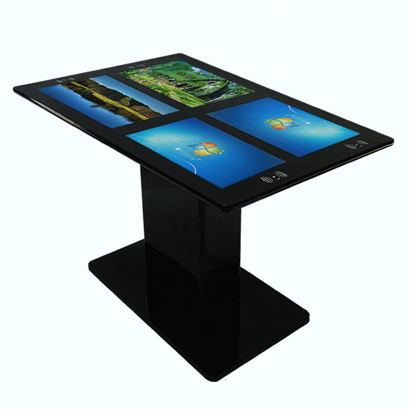 Four 21.5'' Multi Touch Screen Table Android Interactive Touch Gaming Machine Table