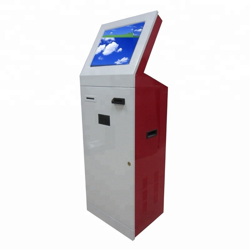19 Inch Electronic Payment Kiosk Terminal With Coin Dispenser, Thermal Printer