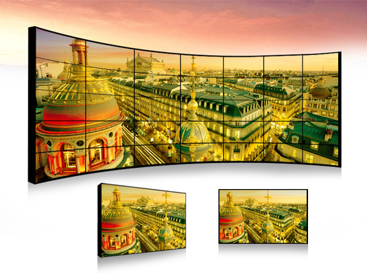 China Full Color Indoor LCD Video Wall / Multiple Tv Wall DMl DVI VGA BNC Interface factory