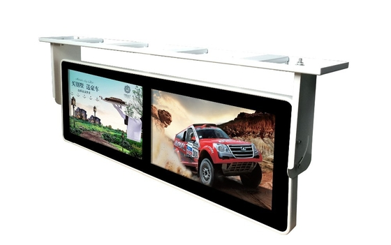 Double Screen Ceiling Mounted Ultra Wide Lcd Display , 18.5 Inch Ultra Wide Touch Screen Monitor