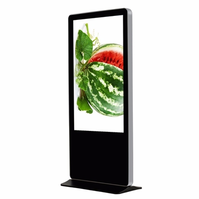 Full HD Digital Advertising Digital Signage Kiosk , Electronic Clock 65 Inch Totem Lcd Display
