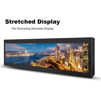 China Commercial Stretched Wall Mount Lcd Display 28 Inch 697.7 * 130.7mm For Subway factory