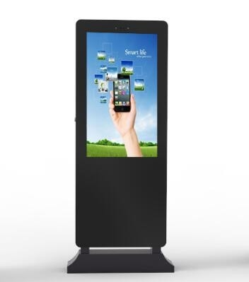 China Anti Glare Floor Standing Touch Screen Kiosk , Restaurant Digital Signage Dustproof factory