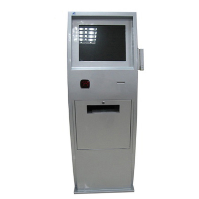 China 19 Inch Standing  Interactive Touch Kiosk With Printer and Card Reader factory