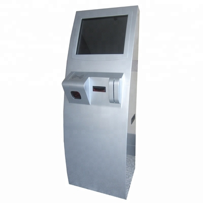 17 19 Inch Floor Stand Touch Payment Terminal Kiosk With QR Reader, Card Reader, Bill Acceptor