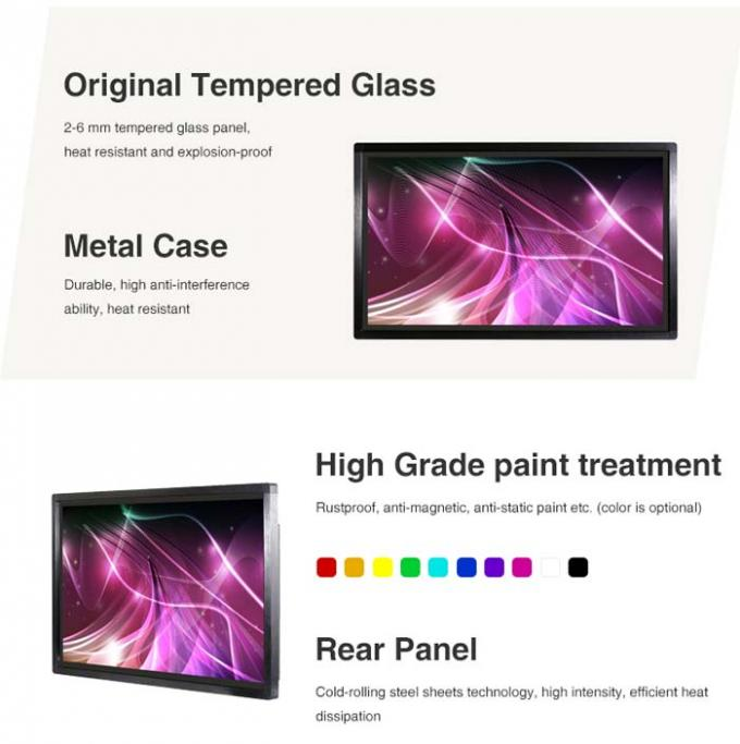 High Brightness All In One Pc Touchscreen Multitouch , 43 Inch Computer Mit Touchscreen