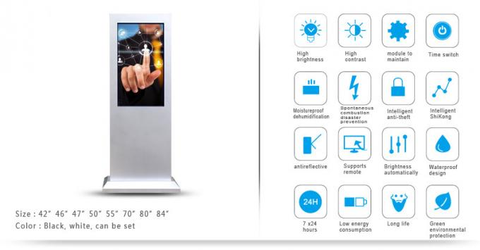 32 Inch PC All In One Outdoor Advertising LCD Display LED Digital Signage For Business
