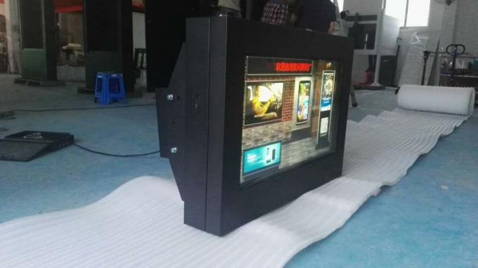 High Resolution Outdoor Lcd Display Kiosk , Wall Mounted Digital Poster Screen