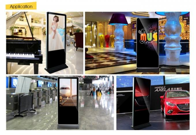 43 Inch All in One PC Interactive Touch Screen  Kiosk Advertising Display For Mall