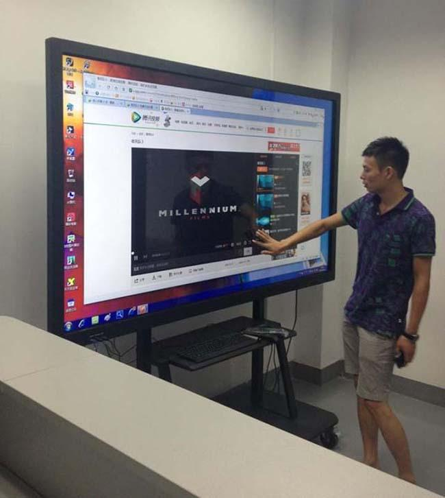 LED Multi Media All In One PC Touch Screen Teaching Interactive LCD Board For Meeting Room