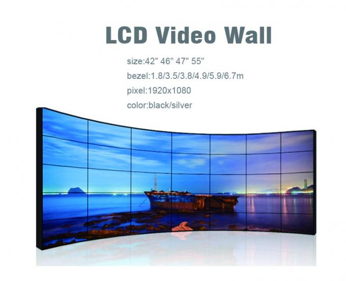 Floor Stand Multi Screen Display Wall , High Contrast Large Video Wall Displays