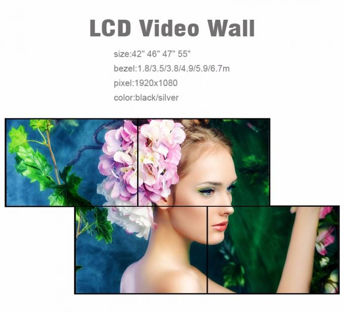 Full Color Indoor LCD Video Wall / Multiple Tv Wall DMl DVI VGA BNC Interface