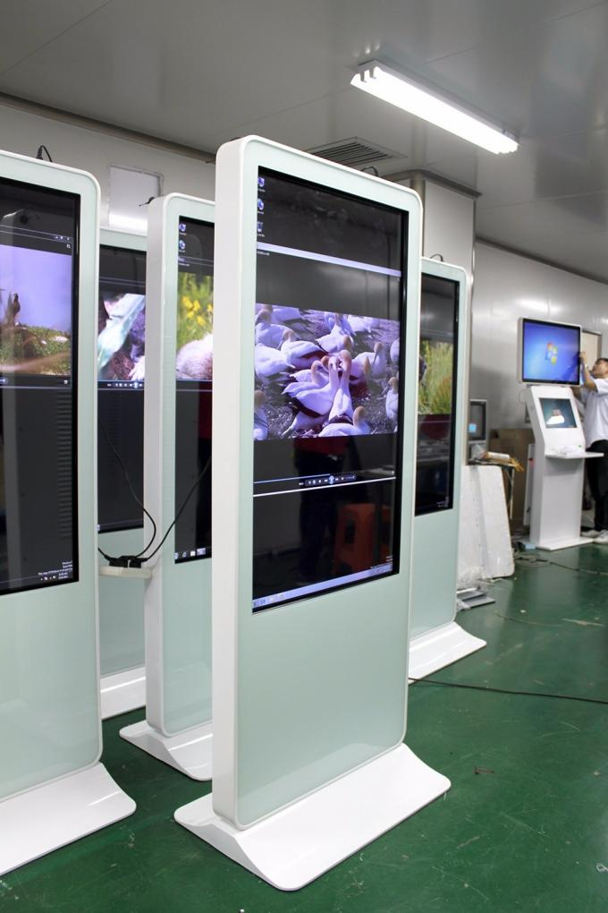 Video Advertising Electronic Kiosk Systems , Vertical Digital Signage Display HDCP Support