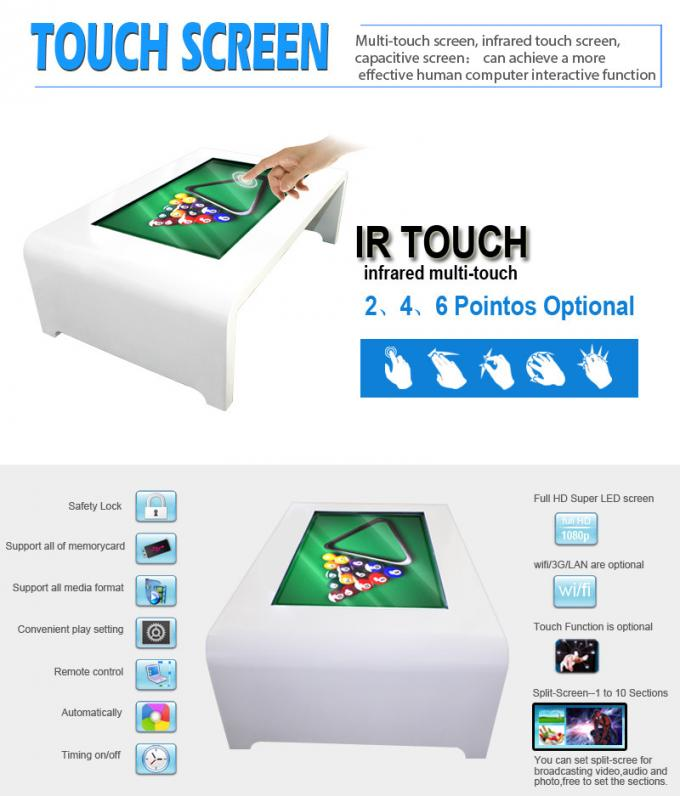 Financial Totem Top Touch Lcd Screen Kiosk , Bookstores Touch Screen Conference Table