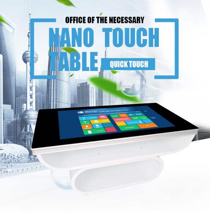 Compatible Multi Touch Screen Table stand 4GB RAM Aluminum frame For Restaurant