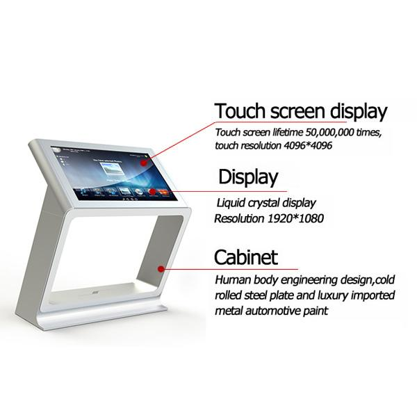 All In One Multi Touch Screen Table Display CPU I3 / I5 / I7 IR Touch Wifi Usb Interface