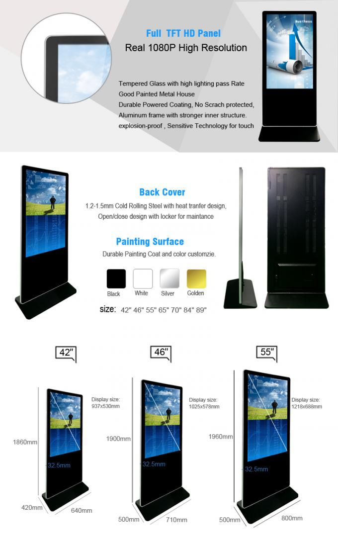 Wifi Network Digital Signage Kiosk Multi Meida Player Function Support Multi - Language