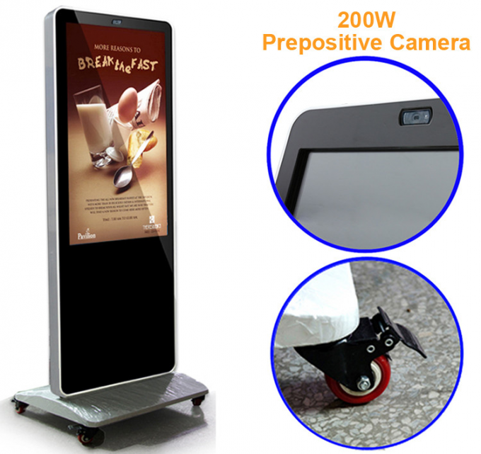 Standalone USB Electronic Signage Display , Floor Standing Lcd Advertising Display