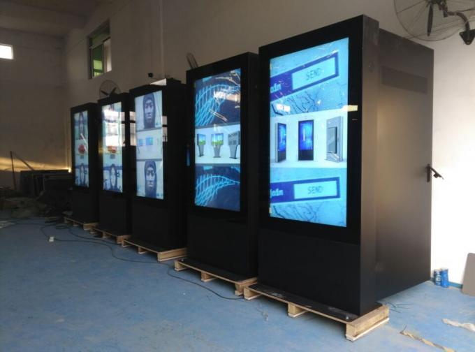 Lightning Protection Outdoor Touch Screen Kiosks , Free Standing Digital Display Screens