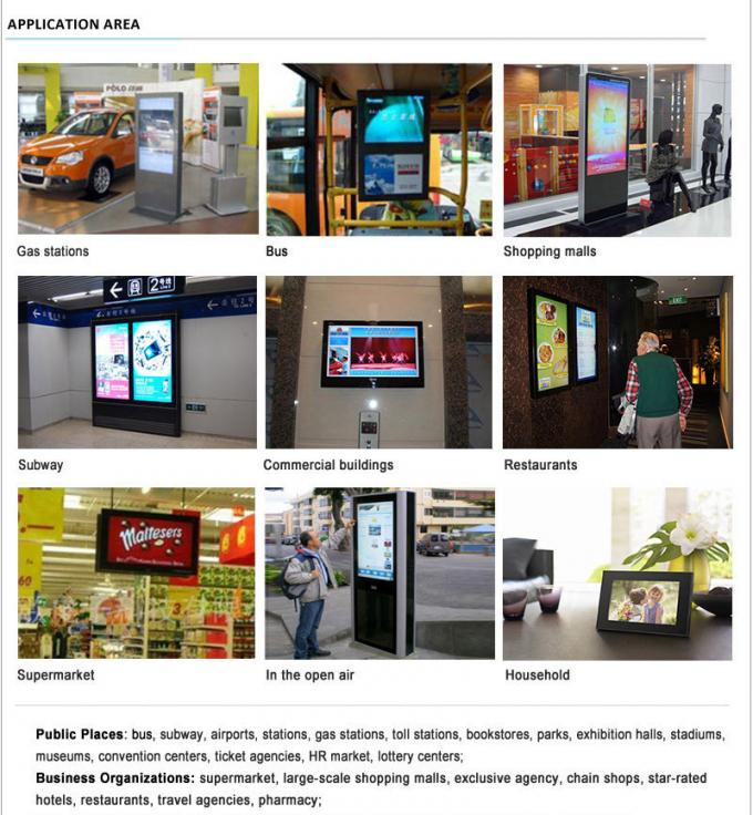 43 Inch Wall Mount Outdoor Touch Screen Kiosk 1500nits Brightness Integrated PC Board
