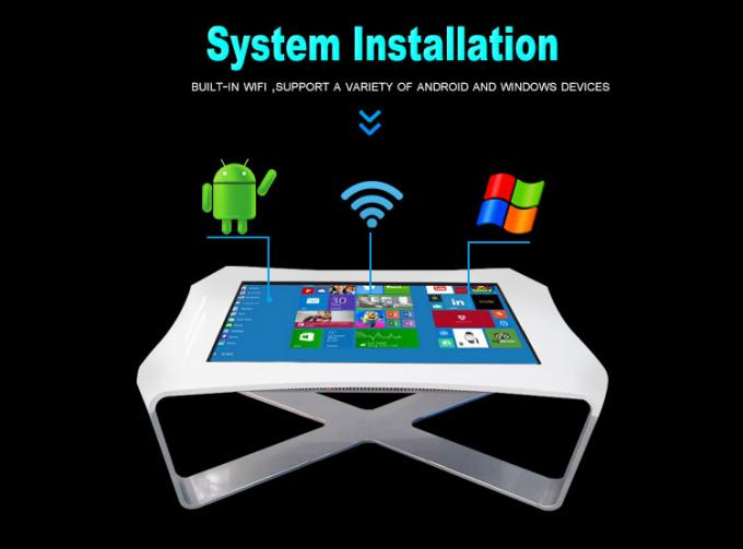 Multi media waterproof interactive multi touch table for dining hall