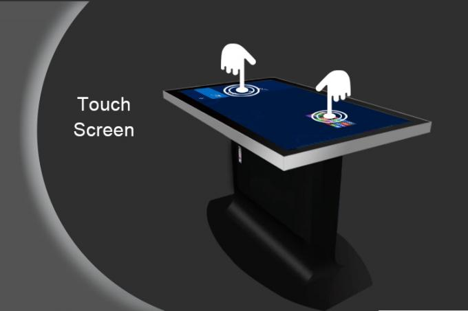 Aluminum Case Touch Screen Conference Table , Remote Control Interactive Multi Touch Table