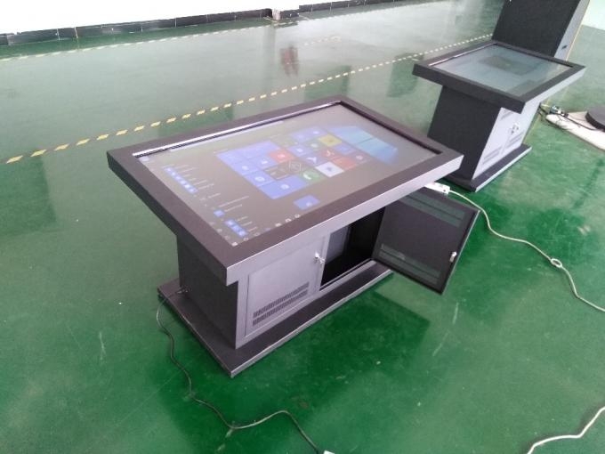 Ultra Thin Interactive Multi Touch Table Display , 55 Inch Touch Screen Computer Table