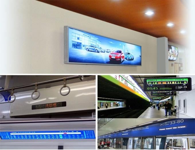 Full HD Super Wide Wall Mount Lcd Display 1920 * 1080 High Definition Image For Airport