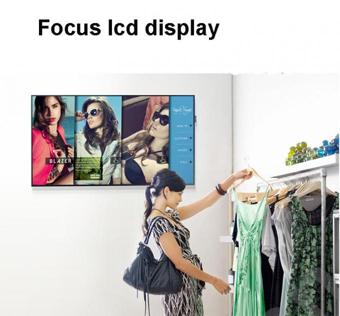 High Brightness Touch Screen Lcd Panel , 49 Inch Shopping Mall Touch Screen Display Monitor
