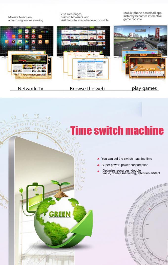 43 Inch Motion Sensor Wall Mount LCD Display Magic Mirror Lcd Advertising Screen