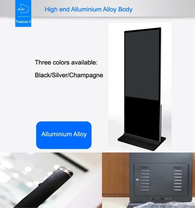 Indoor Totem Interactive Touch Screen Kiosk 43  Inch Mall Panel Advertising Touch Screen