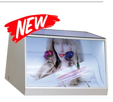 USB Transparent 3D Holographic Display TFT Lcd Screen Showcase 180 Degree