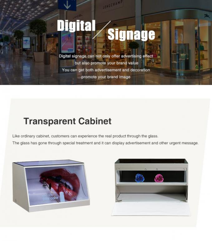 Trade Show Transparent Display Screen 1920*1080 Showchase Advertising Player