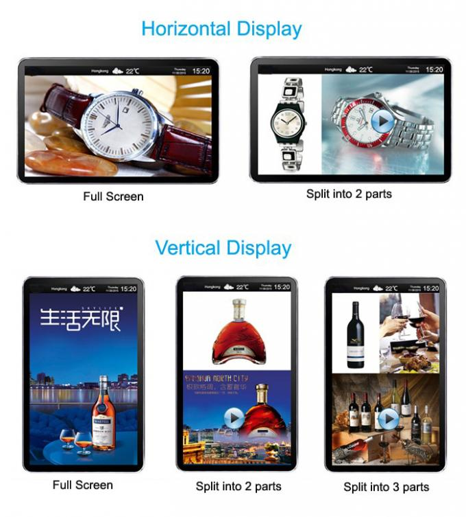 Programmable Android Elevator Lcd Advertising Display Screen 32 Inch Digital Signage Player