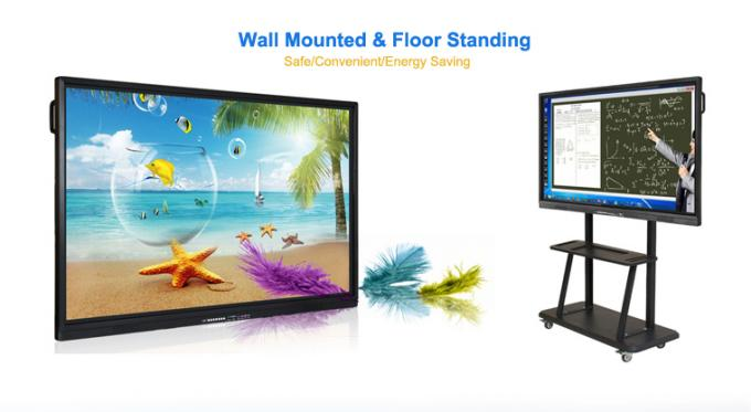 10 Points All In One PC Touch Screen Whiteboard 70 / 84 Inch For Meeting Room