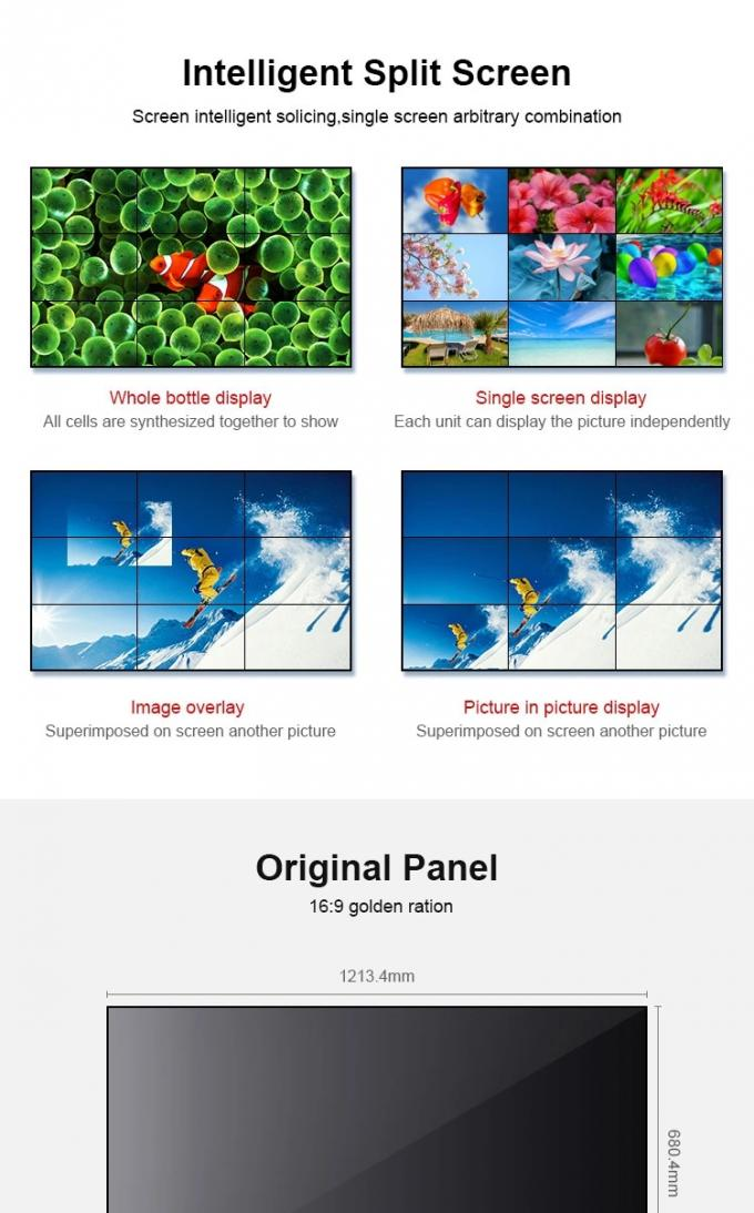3x3 46inch Full HD Samsung LCD Video Wall For Integrated Security Solutions